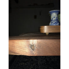 Load image into Gallery viewer, Heart Knot- Custom Colorado Black Walnut Live Edge Tea Table