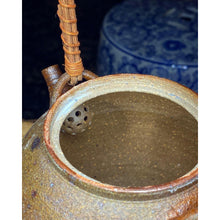 Load image into Gallery viewer, Wood Fired/ Bamboo Handle Ceramic Handmade Clay Kettle