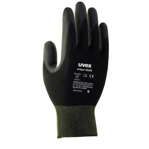 uvex Unipur PU Finger Coated Gloves - Black