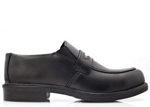 Bova Black CAMBRIDGE Executive slip-on safety shoe.