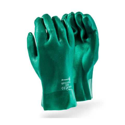 "Dromex Heavy Duty PVC Gloves (""27"") - Green"