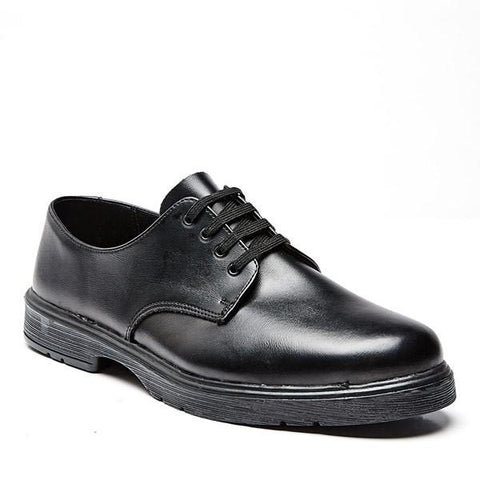 Bata Clerk Uniform Lace Up Shoe (Non-Steel Toe) - Black