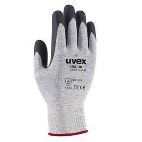 uvex Unidur Foam HPPE Glove - White-Black