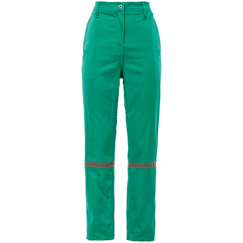 Sisi D59 Fern Green 100% Cotton Durafit Reflective Work Trousers