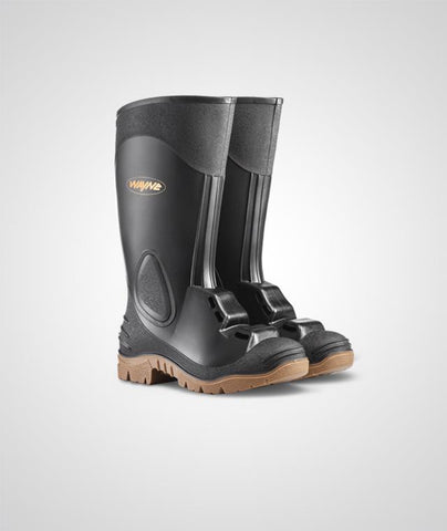 Wayne Egoli 1392 Heavy Duty Gumboot (Metaguard) - Black-Toffee
