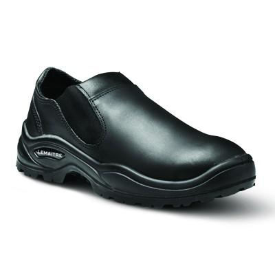 Lemaitre Eros Mens Slip-on Safety Shoe - Black