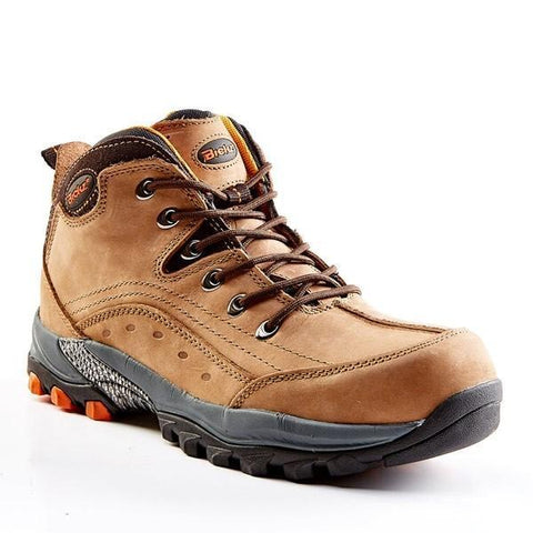 Bata Bickz Vibram Brown Safety Boot (Steel Toe) - Brown