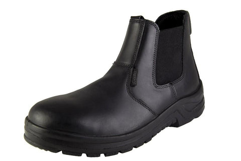 Bata Chelsea Smooth Safety Boot (Non-steel Toe) - Black