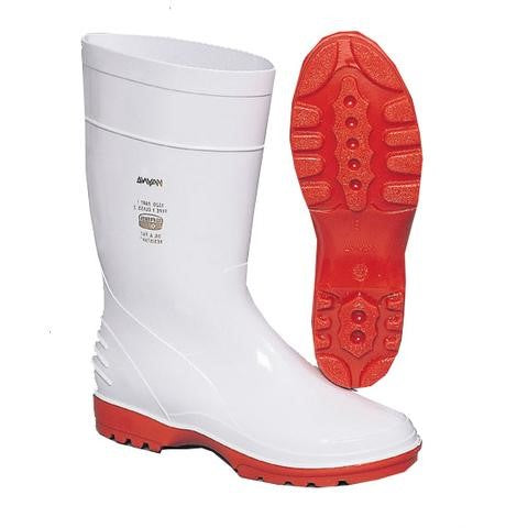 Wayne SABS Ladies Lightweight PVC/Nitrile Gumboot - White-Red