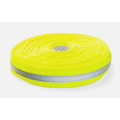 Dromex (50mm x 100m) with 20mm Silver Reflective Tape (Roll) - Yellow
