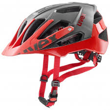 uvex quatro All-mountain Grey-Red Cycling Helmet - 52-57/56-61