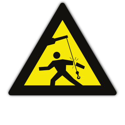 Signage - Beware Swinging Object (290x290mm)