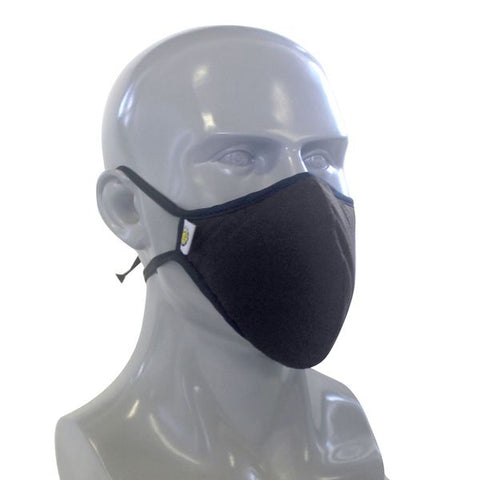 5 Layer E5 Layer Easy Breathe Re-Usable Face Mask (PACK OF 5) - Black