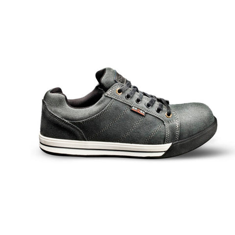 Bronx Striped Grey Suede Sneaker