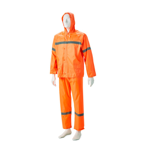 Dromex DH Reflective Rubberised Rainsuit - Orange
