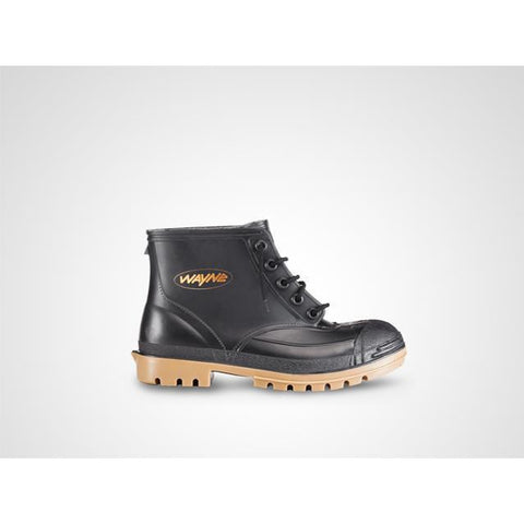 Wayne Miners 1860 SABS Gumboot (Non-steel Toe) - Black-Toffee