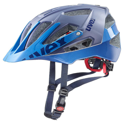 uvex quatro All-mountain Mat-Blue Cycling Helmet - 52-57/56-61