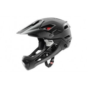 uvex jakkyl HDE Moutntain Bike Helmet (SML-M) - Black-Dark-Silver