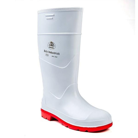 Bata Jobber Safety Gumboot - White-Red