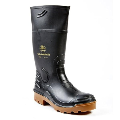 Bata Rhino 2 Safety Gumboot (Steel Toe) - Black-Toffee