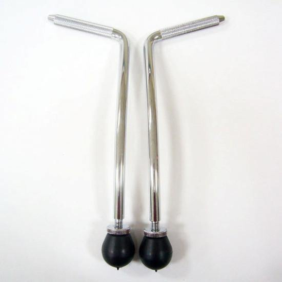 Bass Drum Legs Curved 10,5 mm