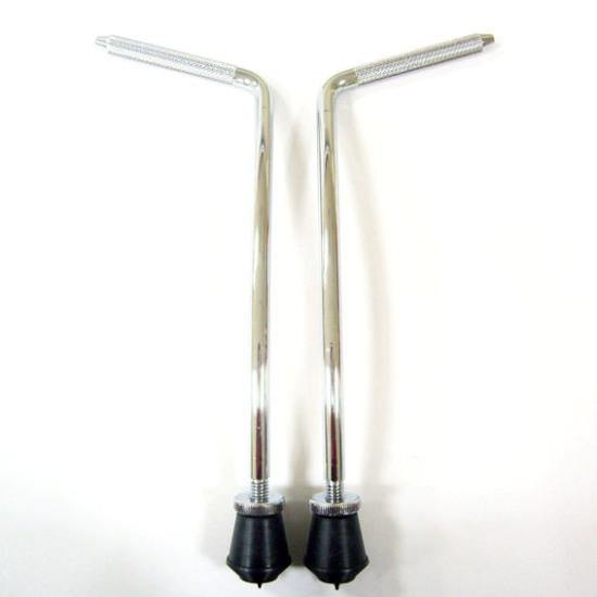 Bass Drum Legs Curved 9,5 mm