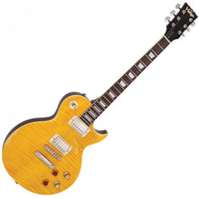 Load image into Gallery viewer, Vintage V100 Icon Electric Guitar Distressed Lemon Drop