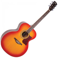 Load image into Gallery viewer, Vintage VJ100CSB XL Jumbo Acoustic Guitar Cherry Sunburst
