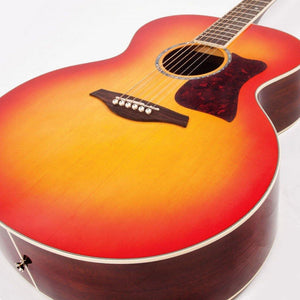 Vintage VJ100CSB XL Jumbo Acoustic Guitar Cherry Sunburst