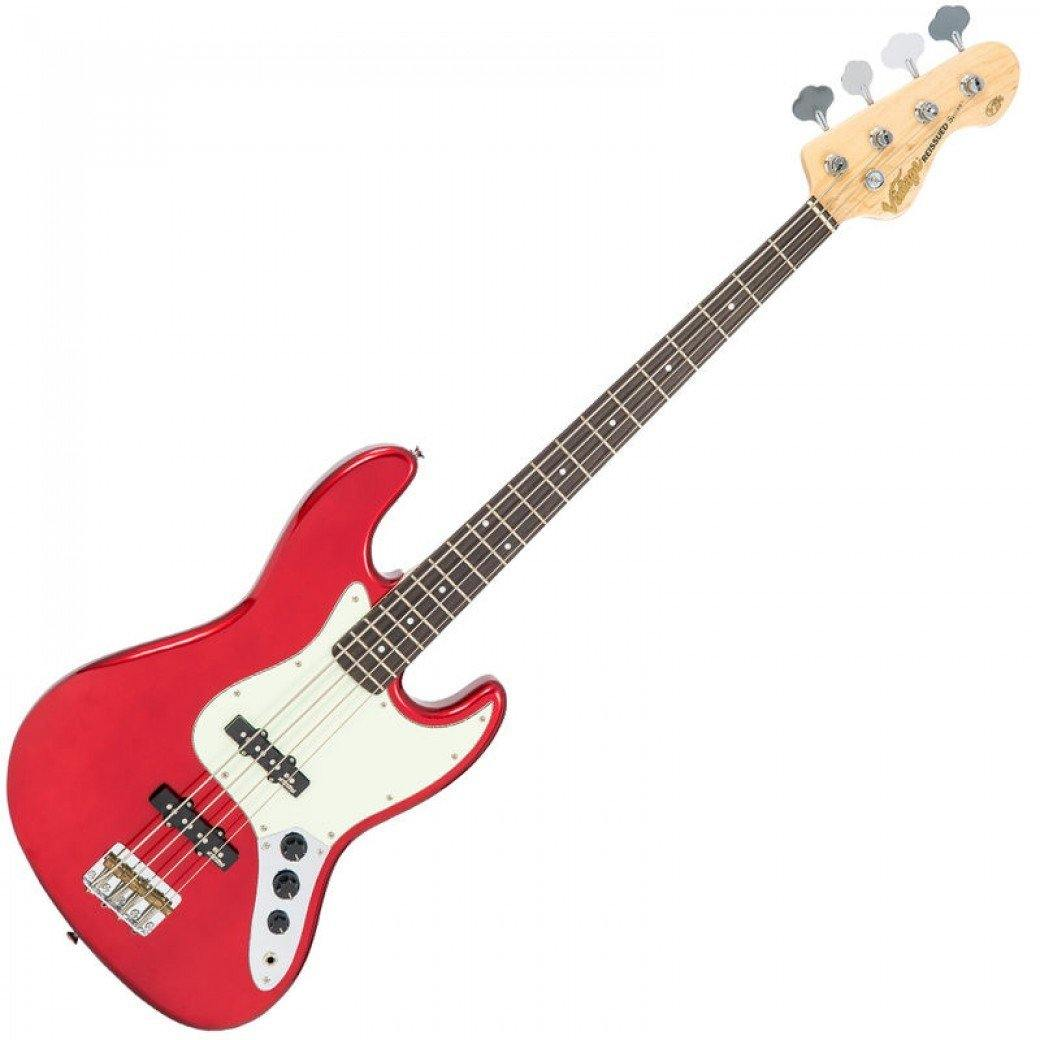 Vintage VJ74 ReIssued Jazz Bass Candy Apple Red - Soundstore Finland