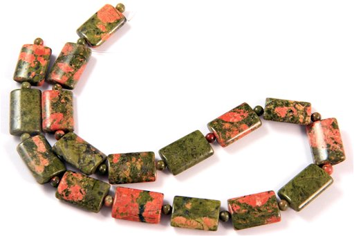 Unakite, 13x18mm, Pillow Shape Beads