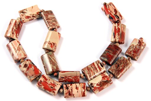 Rainbow Brecciated Jasper, 13x18mm, Pillow Shape Beads