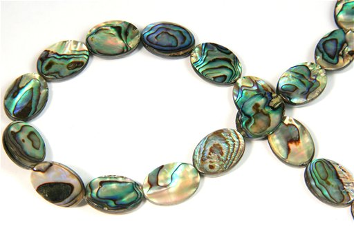 Abalone, 13x18mm, Oval Shape Beads