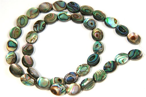 Abalone, 8x10mm, Oval Shape Beads