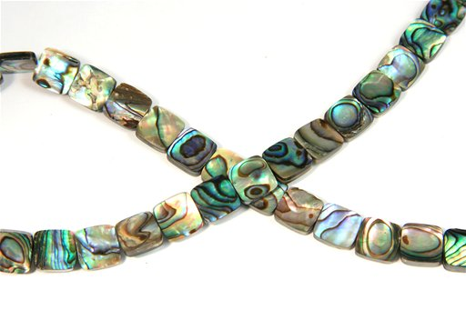 Abalone, 10mm, Square Shape Beads