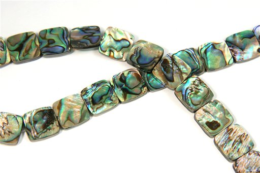 Abalone, 14mm, Square Shape Beads