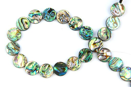 Abalone, 14mm, Coin Shape Beads