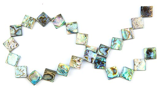 Abalone, 12mm, Diamond Shape Beads