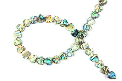 Abalone, 12mm, Heart Shape Beads