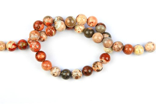 African Cappuccino Jasper, 10mm, Round Shape Beads