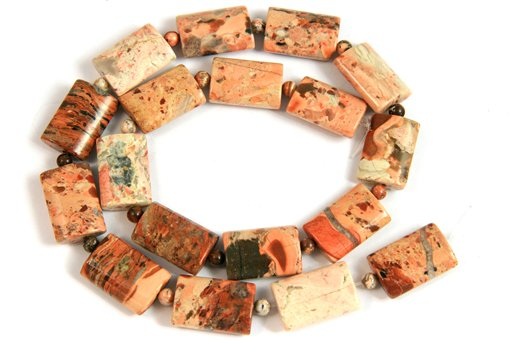 African Cappucino Jasper, 13x18mm, Pillow Shape Beads