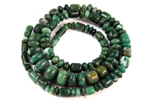 African Jade, 3-10mm, Barrel Rondelle Assorted Shape Beads