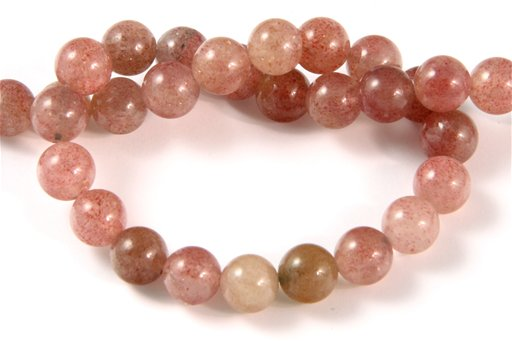 African Ruby Quartz, 8mm, Round Shape Beads