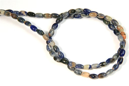 African Sodalite, 4x6mm, Rice Shape Beads