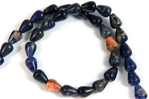 African Sodalite, 9x12mm, Tear Drop Shape Beads