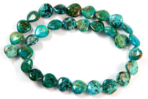 African Turquoise, 13mm, Pear Shape Beads