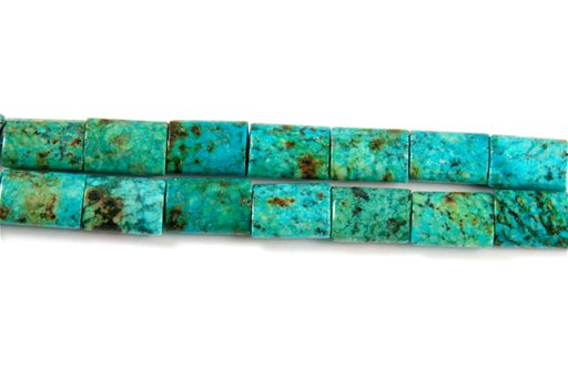 African Turquoise, 12x16mm, Pillow Shape Beads
