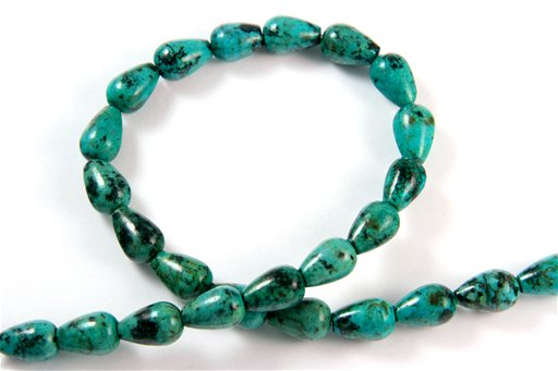 African Turquoise, 10x15mm, Tear Drop Shape Beads