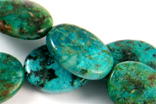 African Turquoise, 15x20mm, Oval Shape Beads