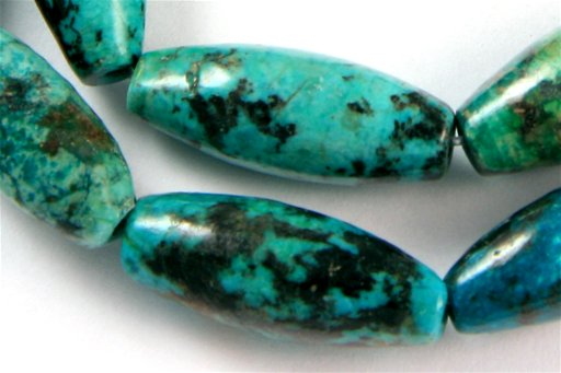 African Turquoise, 8x20mm, Barrel Shape Beads